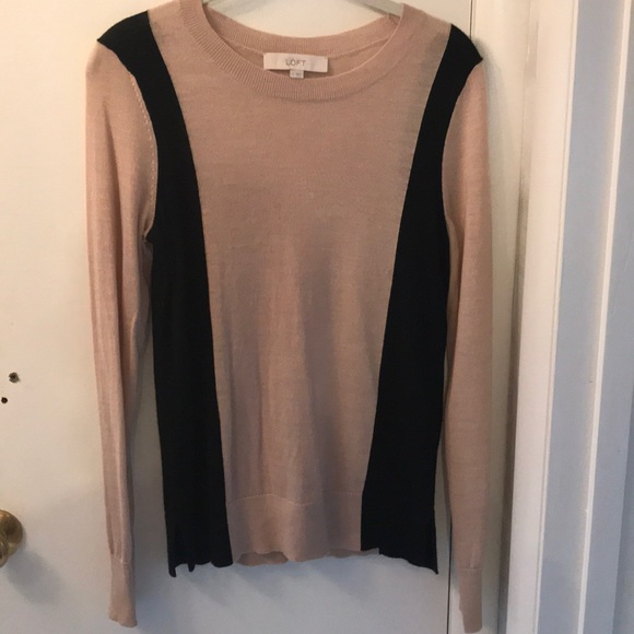 LOFT Sweaters - Nude sweater with black detailing